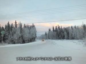 アラスカ州フェアバンクスの-30℃の世界